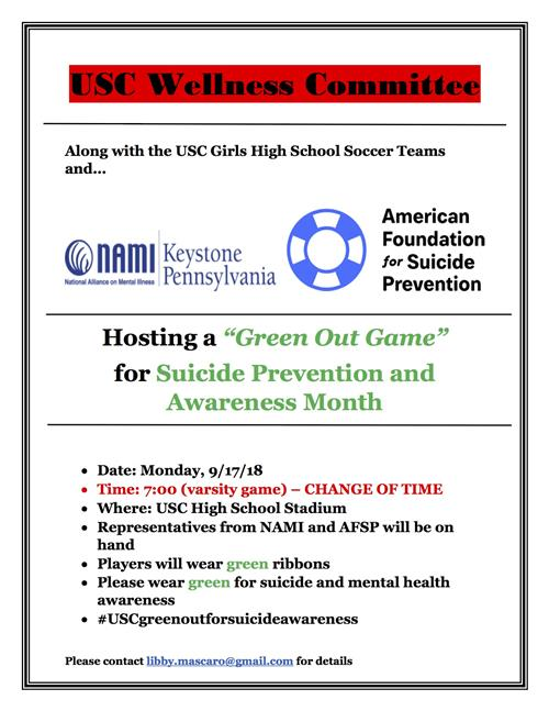 Green Out Game Flier