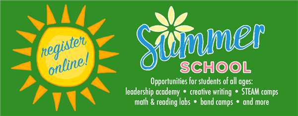 Summer School - register online