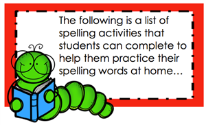Spelling Activities list