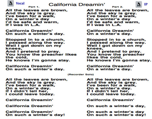The Mamas & The Papas - California Dreamin (Chords)